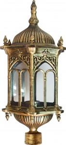 PL114, светильник садово-парковый, 60W 230V E27 черное золото