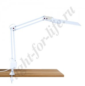 DE1116, настольная лампа на струбцине, ESТ 11W 230V G23 белый с лампой