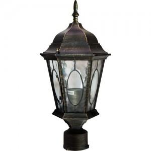 PL162, светильник садово-парковый, 60W 230V E27 черное золото