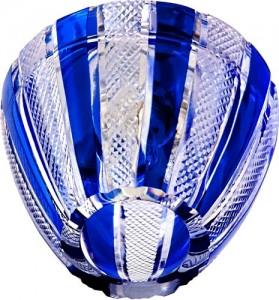 CD2114, светильник потолочный, JCD9 G9 с синим стеклом, с лампой