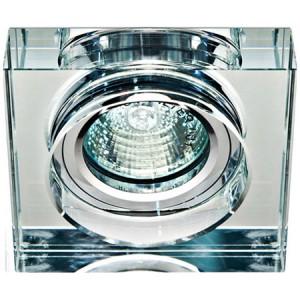 8180-2, светильник потолочный, MR16 50W G5.3 прозрачный, серебро