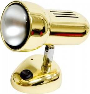 Светильник настенный, 1xR63 Е27 с выключателем, золото, RAD63S-S