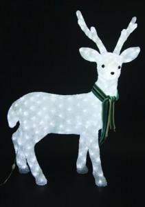 LT025, акриловая фигура - олень, цвет свечения - белый
