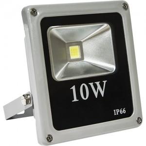 LL-271, прожектор светодиодный тонкий, 1LED/10W 230V 6500К серый (IP66)