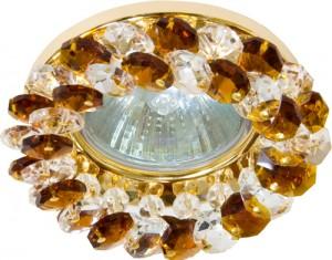 CD4141, светильник потолочный, MR16 G5.3 с коричневым стеклом, золото, с лампой