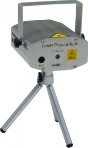F07, проектор для лазерного шоу на треноге, красный-зеленый 12V(с адаптером)