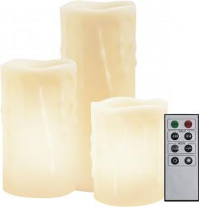 FL071, комплект круглых светодиодных свечей разной высоты