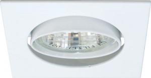 """DL2010S, светильник потолочный, MR16 50W G5.3 """"квадрат"""" белый"""