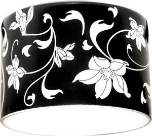 CD2037, светильник потолочный,  черный фон - белый рисунок, с лампой