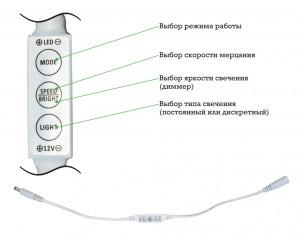 LD50 контроллер для одноцветной ленты