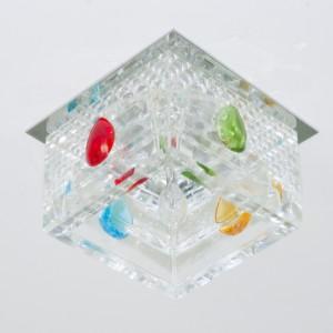 CD2815, светильник потолочный, CD/L JC 20W 12V/50HZ G4 прозрачный,хром, (с лампой)