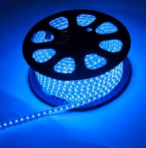LS707/LED-RL, светодиодная лента, 60SMD(5050) 14,4W/m 220V IP68, длина 50m, 14mm*8mm, синий