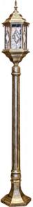 PL126, светильник садово-парковый, 60W 230V E27 1.2M черное золото