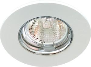 DL105-C, светильник потолочный встраиваемый, MR16  12V G5.3 белый