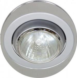 108Т-MR16, светильник потолочный, MR16 G5.3 серый-хром
