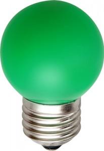 LB-37, лампа светодиодная, 5LED(1W) 230V E27 зеленый
