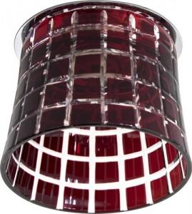CD2321, светильник потолочный, JCD9 35W G9 с красным стеклом, хром с лампой
