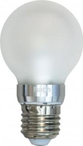 LB-42, лампа светодиодная, 10LED(5W) 230V E27 2700K большой шар матовый A60