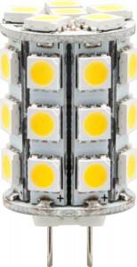 LB-404, лампа светодиодная,  27LED (4W) 12V G4 2700K