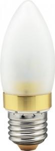 LB-70, лампа светодиодная, 6LED(3.5W) 230V E27 4000K свеча золото матовая