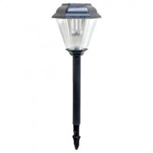 PL233, светильник газонный на солнечной батарее черный 1 белый светодиод