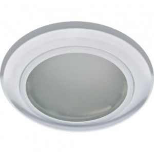 DL202, светильник потолочный, MR16 G5.3 с матовым стеклом, хром