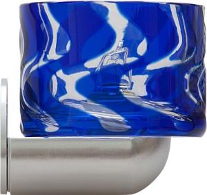 CD92, светильник с лампой, JCD9/G9, синие стекло/хром