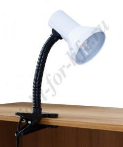 DE1622, светильник на прищепке, ESB 9W 230V Е27 белый c лампой