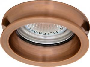 DL164, светильник потолочный, MR16 50W G5.3 медь