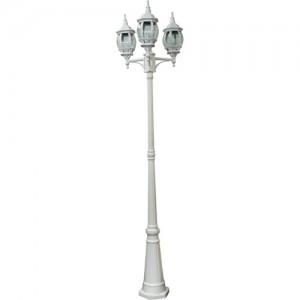 8115, светильник садово-парковый,  столб, 3*100W 230V E27 белый