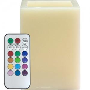 FL082, светодиодная свеча мультиколор