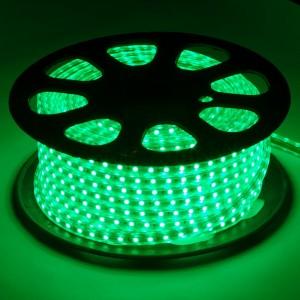 Лента светодиодная, LS707/LED-RL 60SMD(5050) 14,4W/m 220V IP68, длина 50m, 14mm*8mm, зеленый