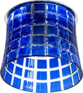 CD2321, светильник потолочный, JCD9 35W G9 с синим стеклом, хром с лампой
