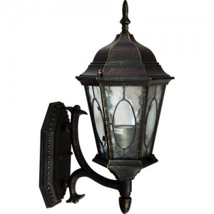 PL160, светильник садово-парковый, 60W 230V E27 черное золото