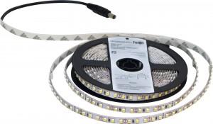 LS612,  лента светодиодная, 5м 9,6W/m 12V IP22, цвет свечения: тёплый белый