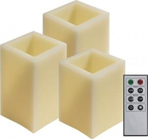 FL073, комплект квадратных светодиодных свечей разной высоты