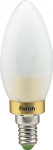 LB-70, лампа светодиодная, 6LED(3.5W) 230V E14 6400K свеча золото матовая