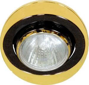 108Т-MR16, светильник потолочный, MR16 G5.3 черный-золото
