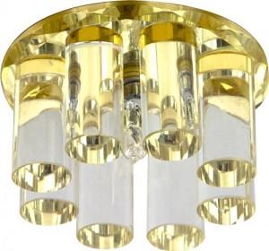 1301, светильник потолочный, JC G4 с желтым стеклом, с лампой