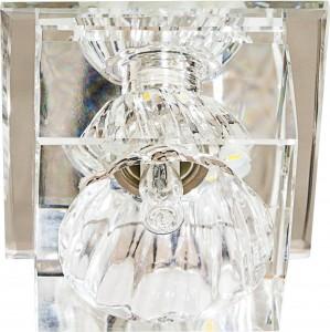 JD55 Crystal Светильник встраиваемый с LED-подсветкой прозрачный JCD9 G9 35W + 3W LED
