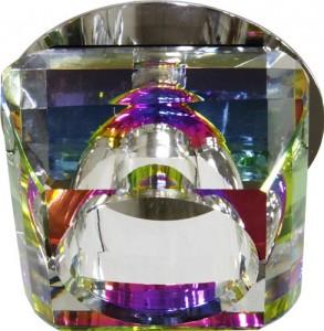 JD135-MC, светильник потолочный, JC 20W G4 многоцветный, хром (с лампой)