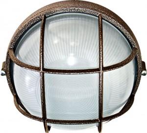 НПО11-100-02, светильник пылевлагозащищенный накладной, 230V Е27, бронза