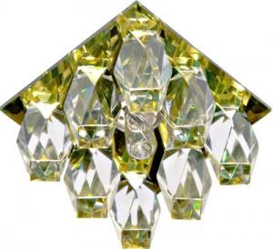 JD119, светильник потолочный, JCD9  35W с прозрачным стеклом, желтый