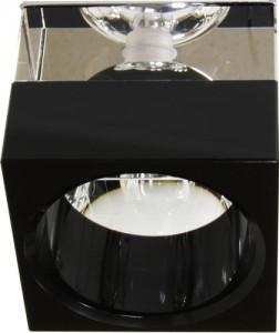 JD155-BK, светильник потолочный, JCD 35W G9 черный, хром (с лампой)