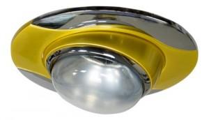 020-R39, светильник потолочный, золото-хром