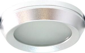 DL209S, светильник потолочный, MR16 G5.3 с матовым стеклом, алюминий