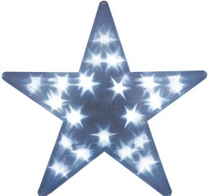 """LT027 Фигура светодиодная """"звезда"""" (работает от батареек)"""