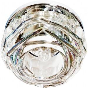 JD190, Светильник потолочный со светодиодной лампой 5W с прозрачным стеклом,хром