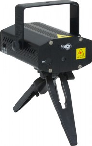 F02, проектор для лазерного шоу на треноге, красный-зеленый 5,4V(с адаптером)