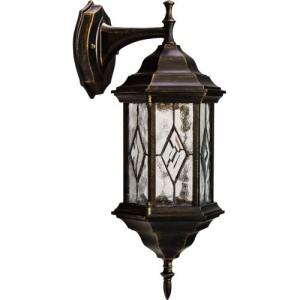 PL121, светильник садово-парковый, 60W 230V E27 черное золото